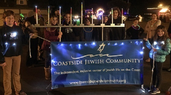 Adults join B'Nai Mitzvah Teens in the Night of Lights Parade
